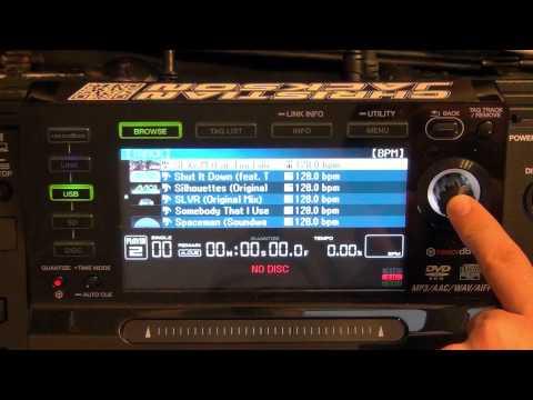 CDJ2000 Tutorial 3: Browsing and Selecting Tracks