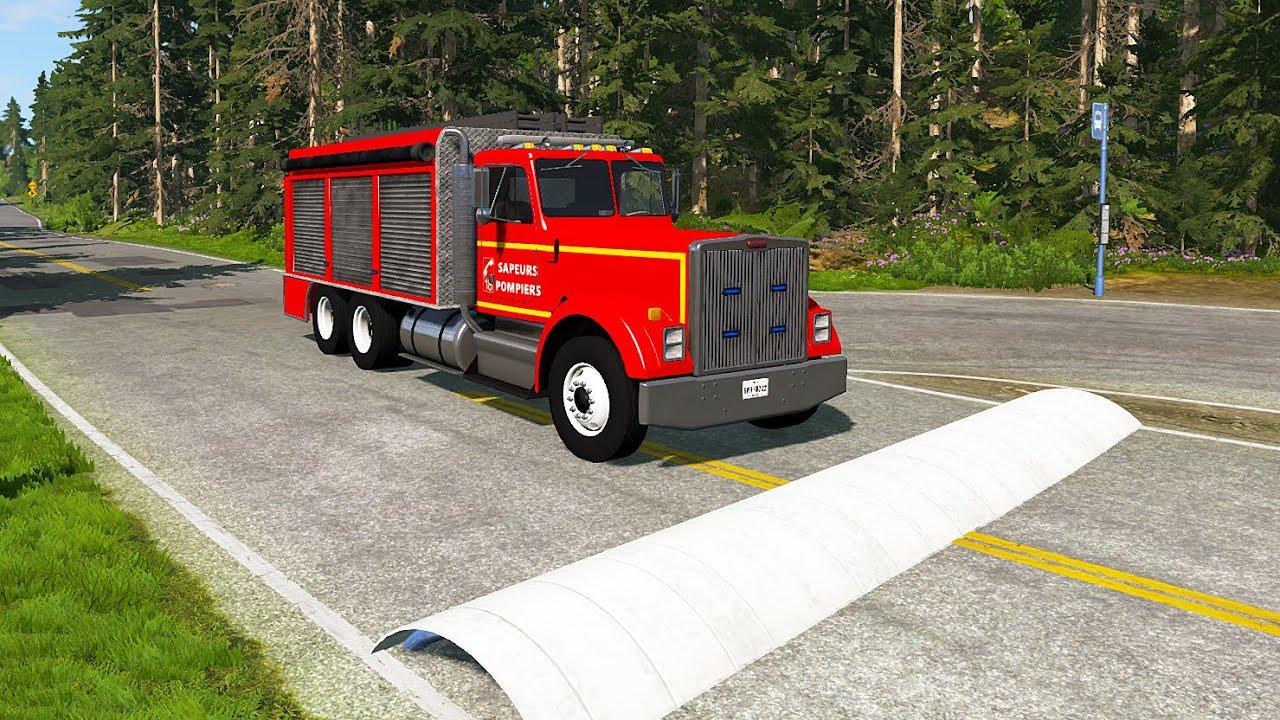 Truck vs Massive Speed Bumps – BeamNG.Drive