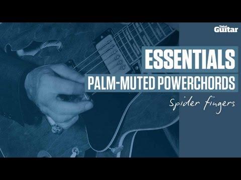 Essentials guitar lesson: Palm-muting powerchords - spider fingers (TG228)