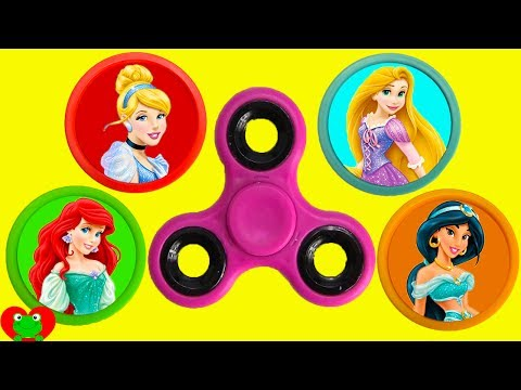 Best LEARN Colors Disney Princess Fidget Spinner Game Surprises