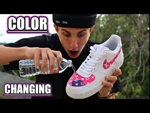 COLOR CHANGING - Louis Vuitton Custom Shoes!  - INSANE!!