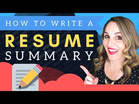 How To Write A Resume Summary - Sample Resume Template