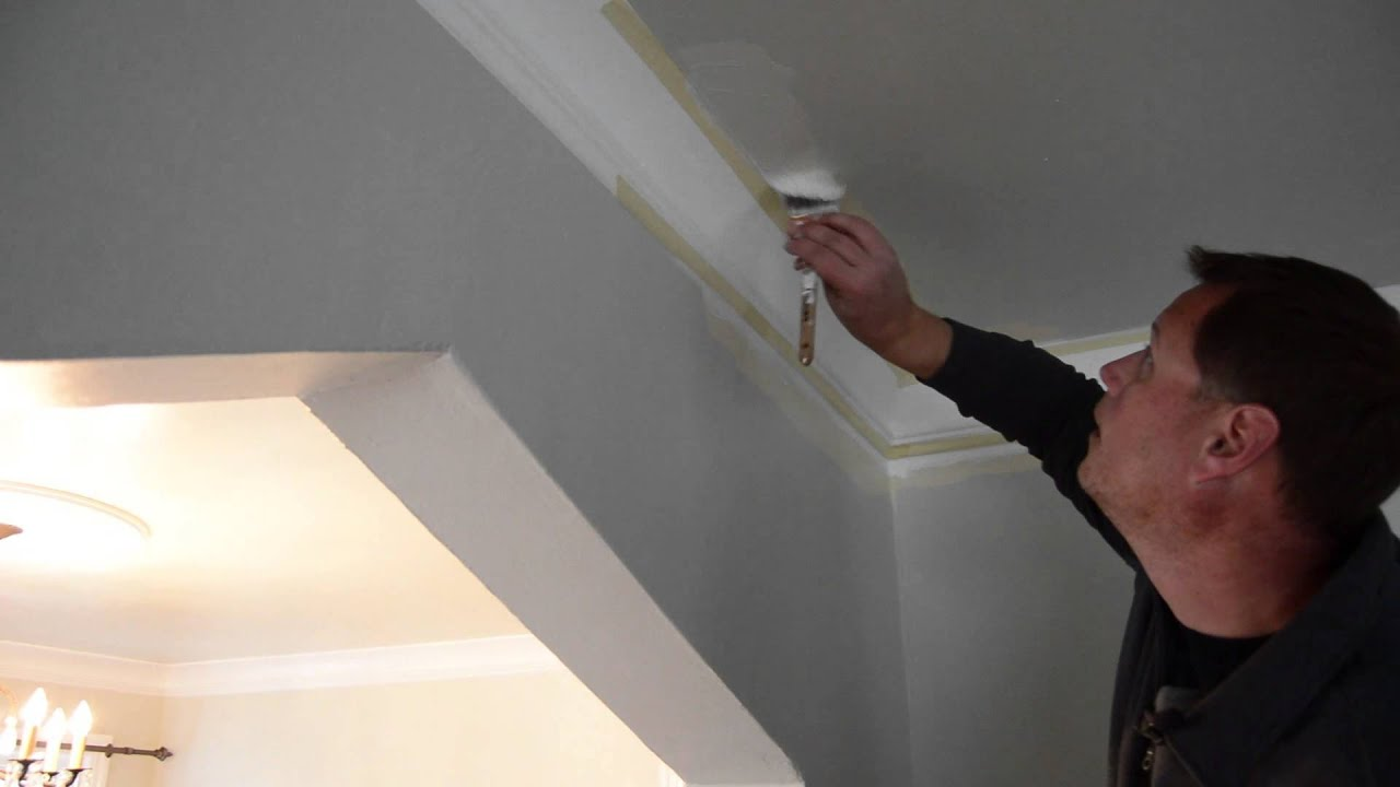 How To Caulk And Paint Crown Molding Youtube