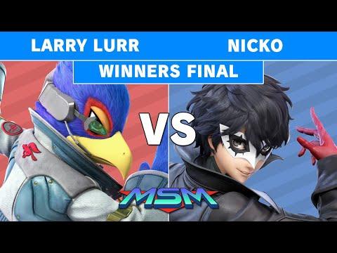 MSM 190 T1 | Larry Lurr (Falco) Vs Demise | Nicko (Joker) Winners Finals - Smash Ultimate