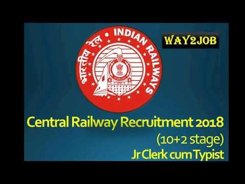 Central Railway Recruitment 2017 – Apply Online for 150 Jr Clerk cum Typist Posts /WAY2JOB