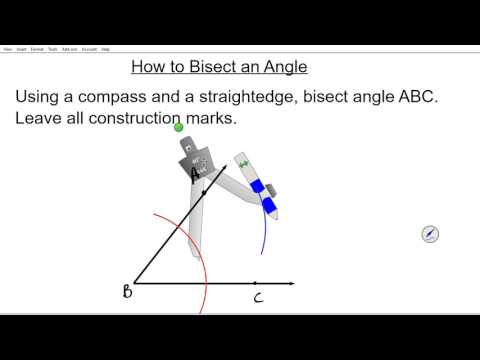 How to bisect an angle Geometry 1 4 common core compass straight edge constructions staar eoc regent