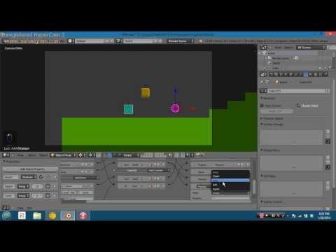 """""""2D"""" Sidescroller in blender game engine"""