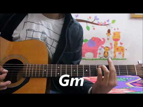 Naah - Harrdy Sandhu - Hindi Guitar cover lesson chords Easy 3 chords
