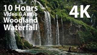 4K UHD 10 hours - Woodland Waterfall - mindfulness, ambience, relaxing, meditation, nature screenshot 2