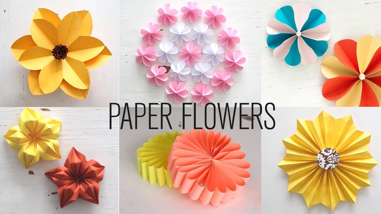 6 easy paper flowers flower making diy youtube 6 easy paper flowers flower making diy mightylinksfo