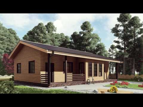 Проект одноэтажного каркасного дома 9,5 на 13 м. Строй и Живи