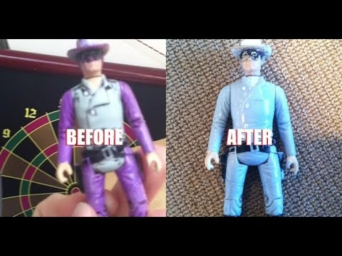 Removing Sharpie permanant marker from action figure:  Restoring The Lone Ranger