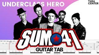 SUM 41 - UNDERCLASS HERO Guitar Tutorial | Guitar Tabs