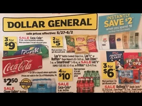 Dollar General Ad Preview 5/27/18 Awesome Instant Savings!