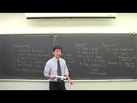 Math 131 091216 Complex Numbers, Countable and Uncountable Sets