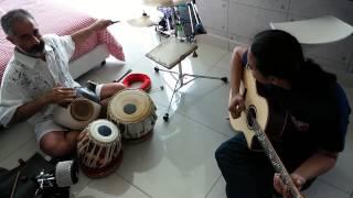 Ravi Srinivasan and Az Samad (Udu Drums and Acoustic Guitar) - Metro Manila Jam (excerpt 2)