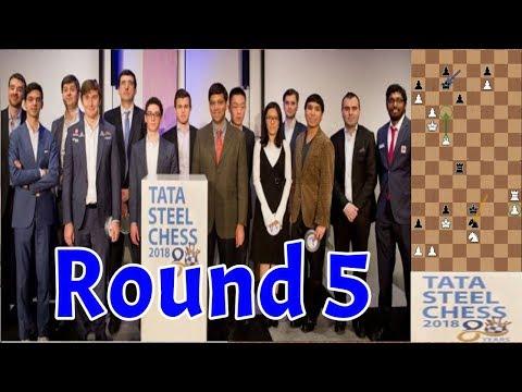 Tata Steel 2018   Round 5   Carlsen–Kramnik e outros destaques