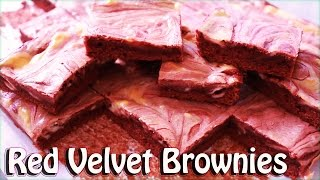 How to make Red Velvet cheesecake brownies