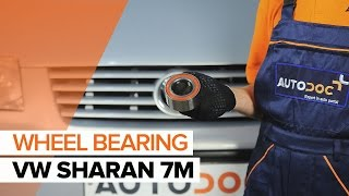 How to change front wheel bearing on VW SHARAN 7M TUTORIAL | AUTODOC