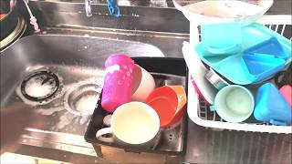 HOW TO WASH DISHES BY HAND AND CLEAN KITCHEN SINK FROM START TO FINISH