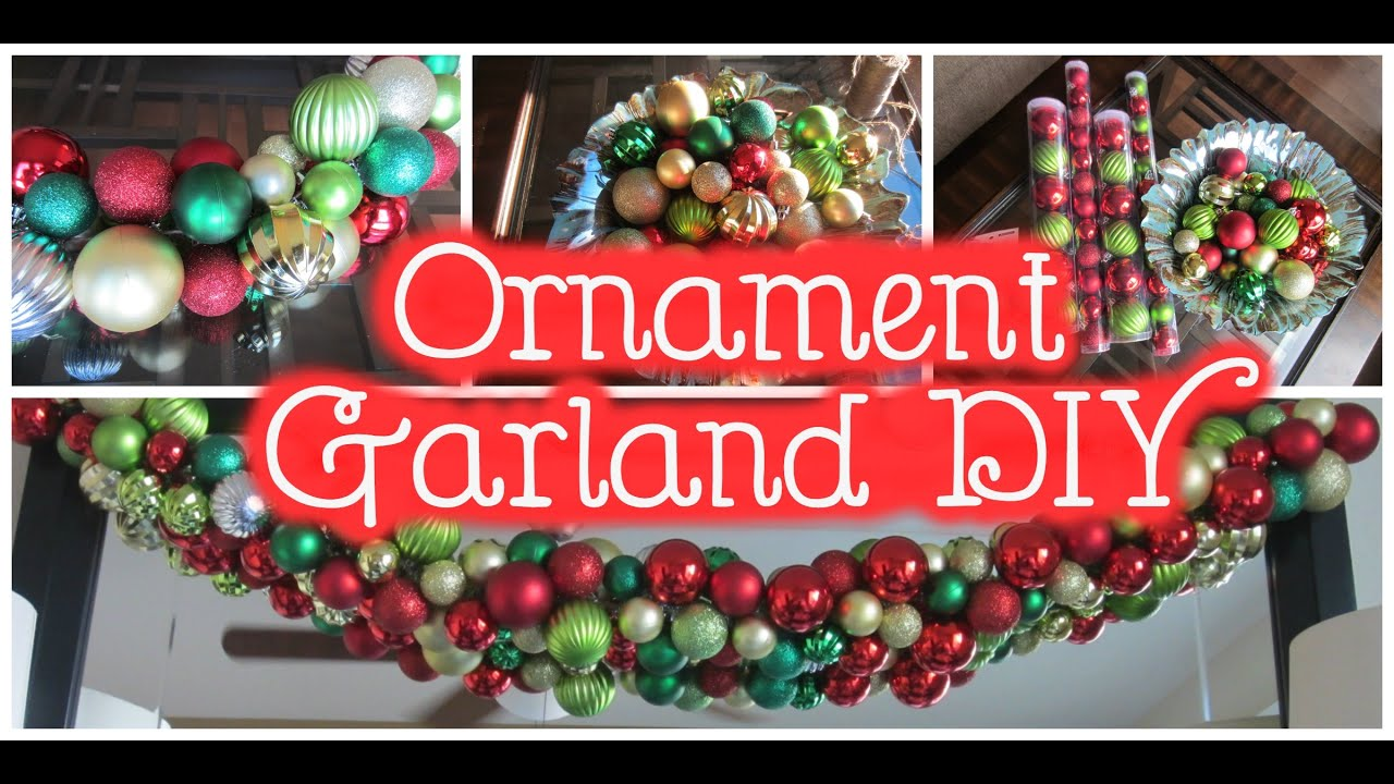 Christmas Ball Garland.Minute Diy Christmas Ornament Garland