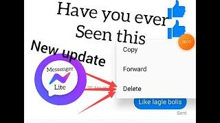 😱 Delete  messages  from  messenger lite😱 BUT HOW!!! screenshot 3