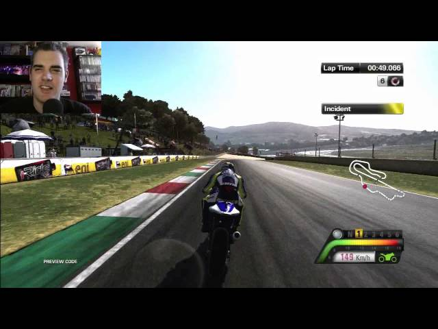 MotoGP13 Semi Pro Handling Practice PS3 Gameplay