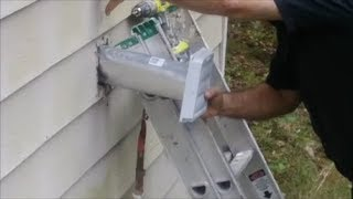 How To Replace A Dryer Vent  -  Old Dryer Vent Clogged and Broken - DIY