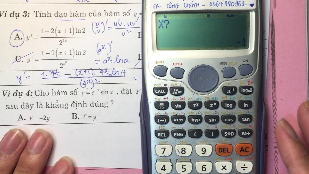 [Toán 11-12] Kỹ thuật giải nhanh đạo hàm bằng máy tính PHẦN 2- Thầy Nguyễn Công Chính