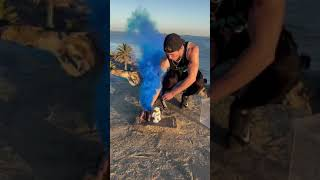TIE-DYE WITH SMOKE BOMBS EXPERIMENT! #shorts
