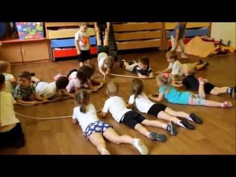 """Частный детский сад """"В гостях у Солнышка"""" Физкультура под балалайку."""