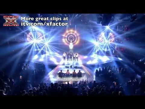 One Direction sing Chasing Cars  The X Factor  SemiFinal  itvcomxfactor