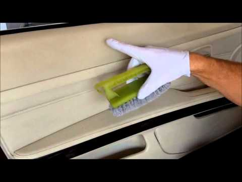 Car leather cleaning BMW