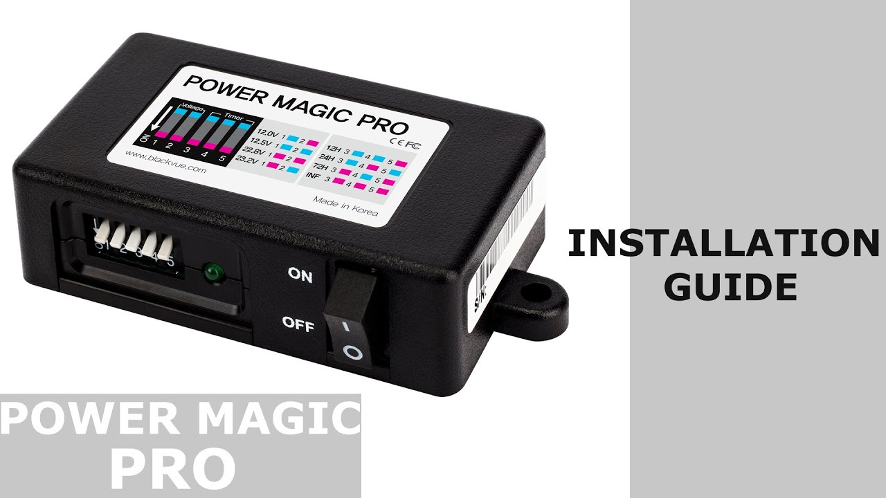 blackvue power magic pro installation guide [ 1280 x 720 Pixel ]