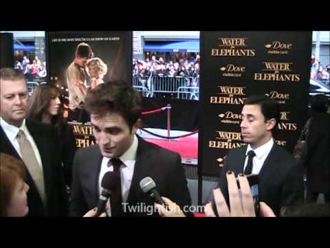 Robert Pattinson  on Water for Elephants red carpet in New York