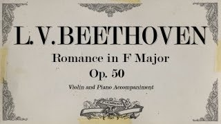 L.V.Beethoven - Romance in F Major Op 50 -  Piano accompaniment