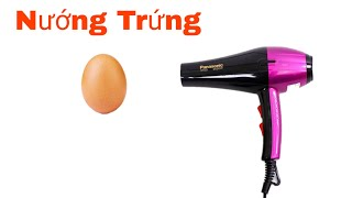 Đức Hải Vlogs | Thử Nướng trứng bằng máy sấy tóc và cái kết...