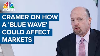 Jim Cramer on what a 'blue wave' could mean for the markets