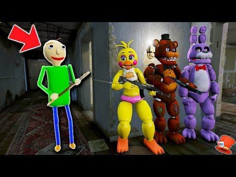 CAN THE ANIMATRONICS HIDE FROM BALDIS BASICS? GTA 5 Mods For Kids FNAF RedHatter