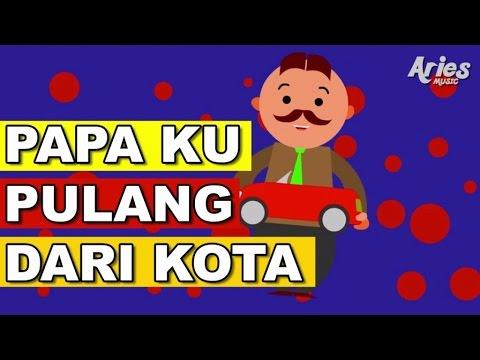 Alif & Mimi - Papa Ku Pulang Dari Kota (Animasi 2D) Lagu Kanak Kanak