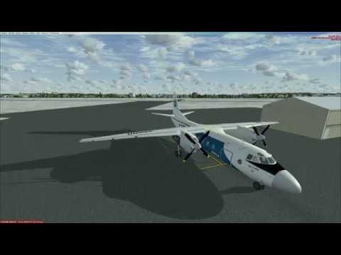 FSX | An 24 RV | Ан 24 РВ | панель от DZIES | ESOW - ESSA | Full flight | Tutorial