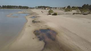 Suivez le Drone. Lac et port d'Hourtin, Gironde.