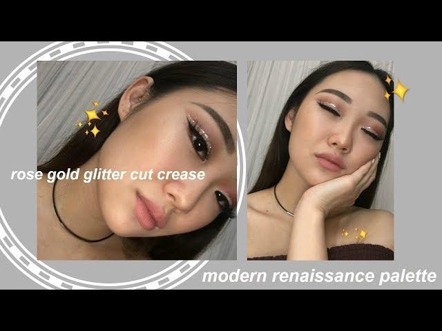 GLITTER CUT CREASE (monolids + modern renaissance palette) | 2017 alice son