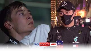 George Russell reacts to Mercedes' pit stop confusion & his first ever F1 points | Sakhir GP