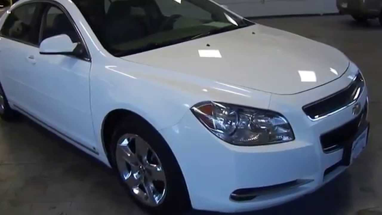 9072 2009 Chevrolet Malibu Lt White Northeast Motor Cars