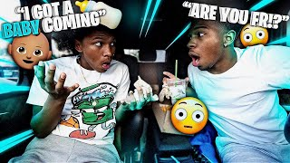 MY 16 YEAR OLD BROTHER TOLD ME HE HAS A KID ON THE WAY! *Mukbang*