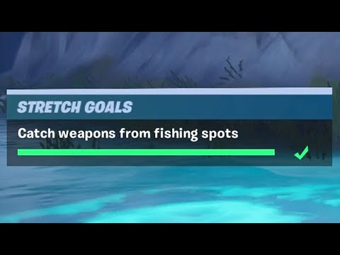 Catch Weapons From Fishing Spots (10)   - Fortnite Stretch Goals Challenges