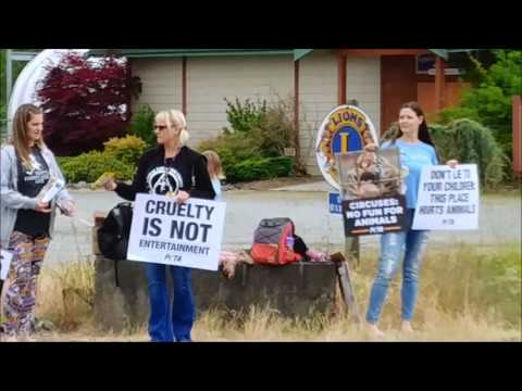 Vegans Protest Circus