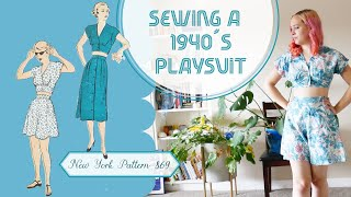 Sewing a 1940's playsuit | Vintage Sewing Projects