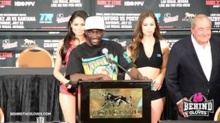 TERENCE CRAWFORD CELEBRATING HIS WIN OVER POSTOL/ FULL POST FIGHT PRESS CONFERENCE